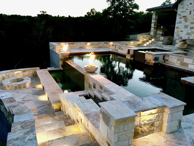 water and fire features | san antonio custom pool builders near me