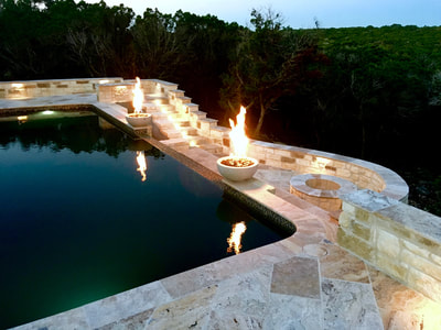 Water and fire features I San Antonio custom pool builders